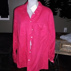 Women's sz XL Lucy & Laurel red top NWT